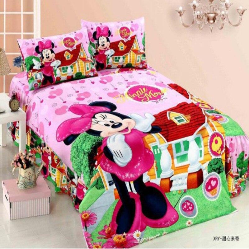 Disney Minnie Mouse Sophia Spiderman Babies Bedding Sets Duvet Cover Bed Sheet Pillowcase Children Boys Girls 1.0m 1.2m Bed