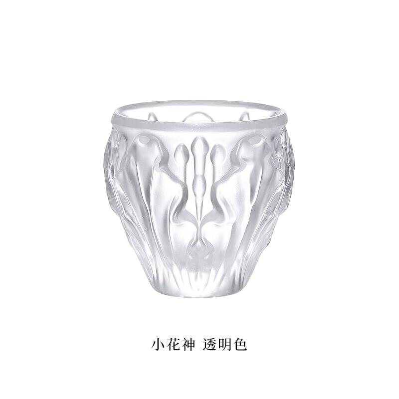 Small Flower God Series Burning Peach Flower Handmade Glass Tea Cup Tea Set Kombucha