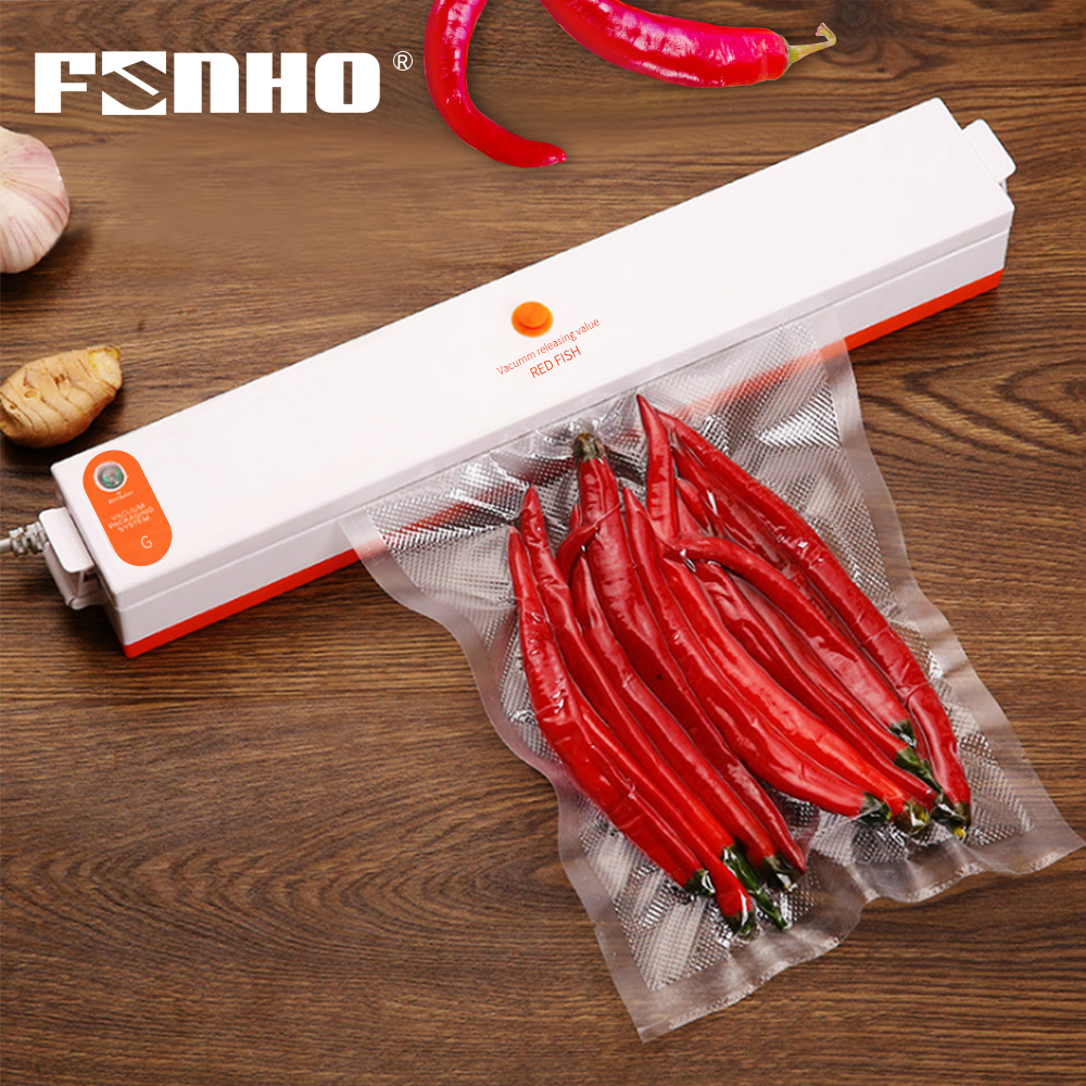 FUNHO 110V-220V Best Vacuum Food Sealer Machine Sous Vide Vacuum Sealing Machine Film Container Food Sealer Saver Vacuum Packer