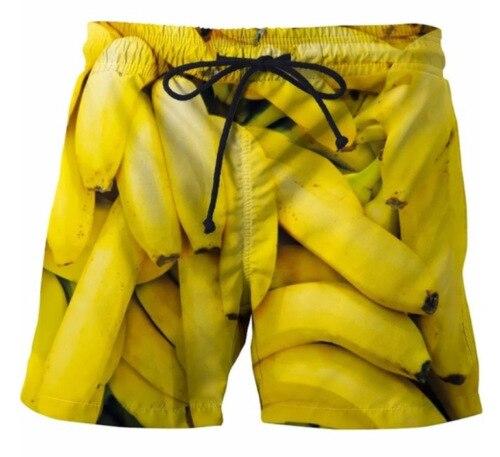 Digital Printed Men's Quick-drying Beach Shorts Cartoon Printed Side Pocket Casual Shorts