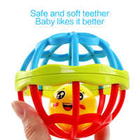 Baby Rattles Toy Baby Teether Hand Grasping Ball Toys Rattle Early Educational Hand Bell Baby Toys Rattle Dumbbell For Infant