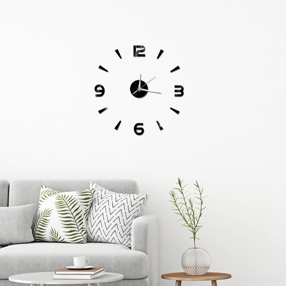 2019 New 3D Wall Clock Mirror Wall Stickers Fashion Living Room Quartz Watch DIY Home Decoration Clocks Sticker reloj de pared 11