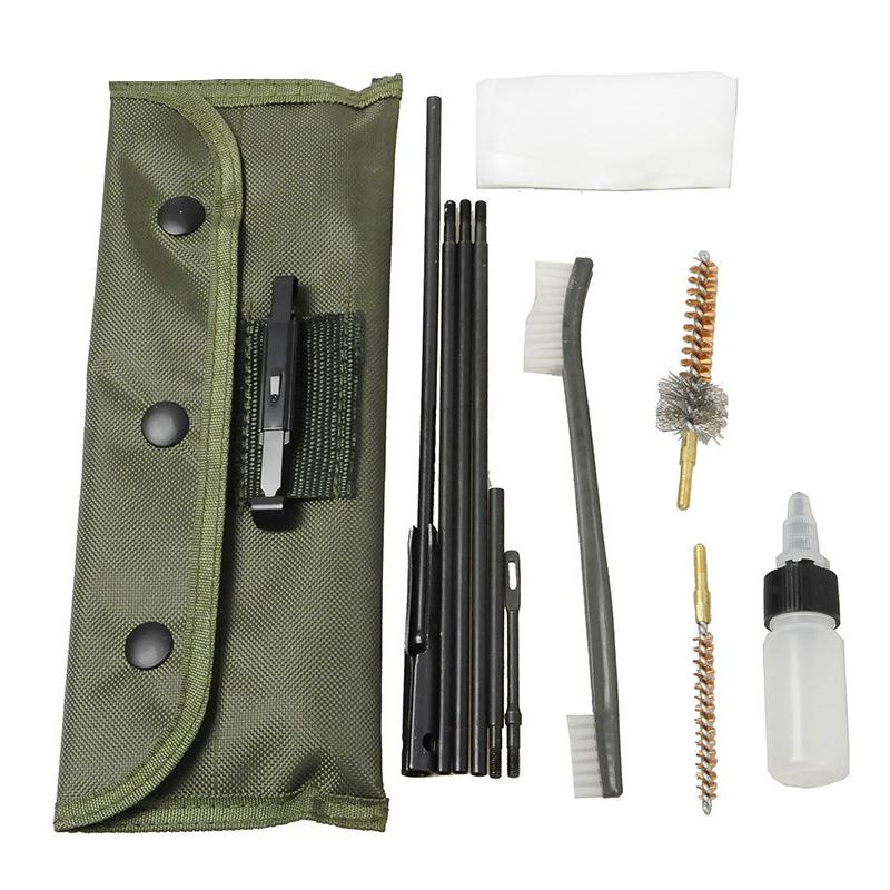 MeterMall 11pcs/set Gun Cleaning Derusting Accessories Kit Full Set Clean Brush For .22 Cal 5.56mm Rifles