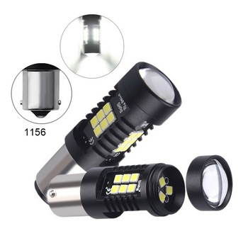 цена на 2pcs Car LED Lamp Bulbs high quality Red High Power Brake Tail Light accessories LED Reverse Light Bulbs Brake Light Tail Lights