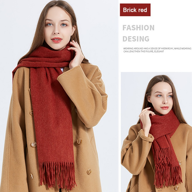 2020 new woolen scarf for men and women autumn and winter outdoor windproof thickened warm scarf leisure and business shawls