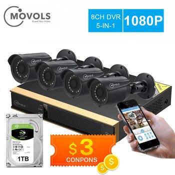 Movols 8CH AI CCTV camera System 4PCS 2MP Outdoor Weatherproof Security Camera DVR Kit H.265 Home Video Surveillance - discount item  44% OFF Video Surveillance