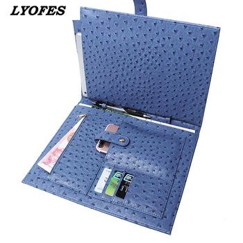 Teczki na dokumenty moda walizka biznesowa tłoczone strusia wzór nowy pojemna na Laptop teczki najwyższej jakości aktówka tanie i dobre opinie CN (pochodzenie) Skórzane