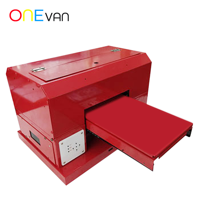 ONEVAN.Automatic A4 UV Printer A4 UV Flatbed Printer For Phone Cover Acrylic Metal TPU Wood Printer UV Inkjet Printing Machine