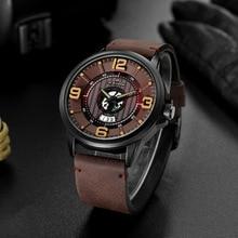 Creative Watches Men 2019 New Fashion Sports Quartz Clock Mens Top Brand Luxury Man Leather Waterproof Date Wristwatches