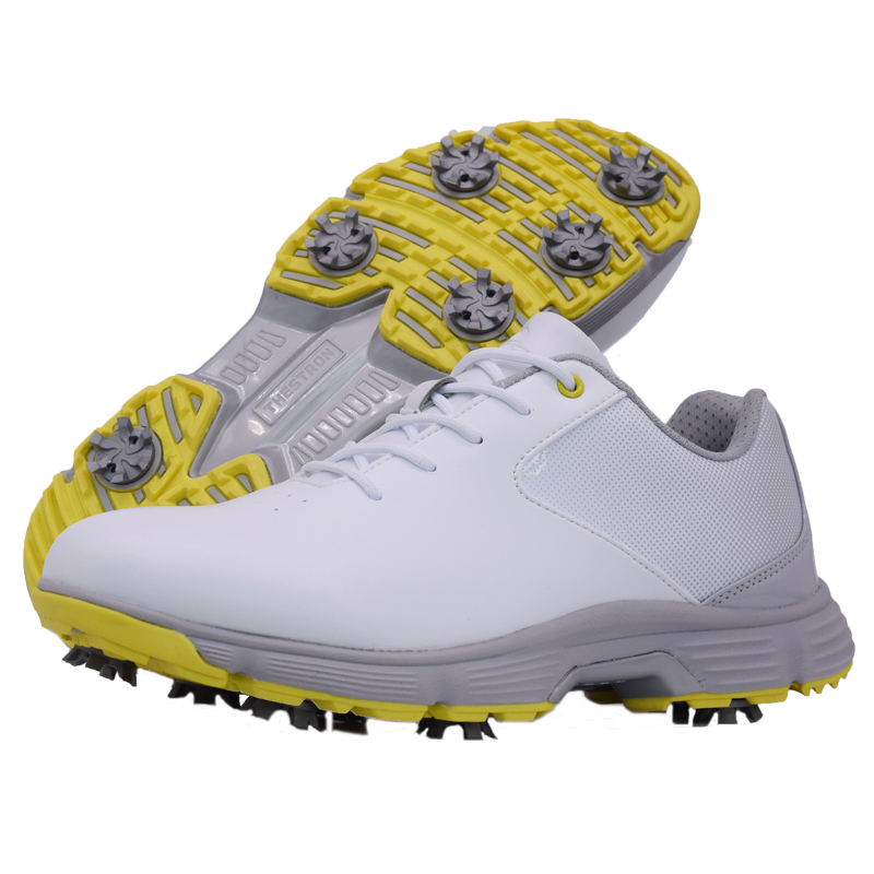 Men Professional Golf Shoes Waterproof Spikes Golf Sneakers Black White Mens Golf Trainers Big Size Golf Shoes for Men 9