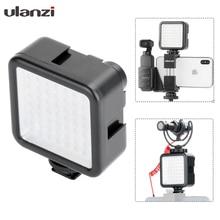 Ulanzi 8см мини светодиодный свет подсветка для камеры, камерный свет с 3 Горячих башмаков фотографическая лампа Освещение для Nikon canon Sony DSLR,осветитель для фотоаппарат башмак