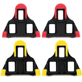 One set 2 x Bicycle Bike Self-locking Pedal Cleats Set Yellow For Shimano SM-SH11 SPD-SL for road Mountain Bike accessories bicycle pedal mtb bike self locking spd pedal clipless pedal platform adapters for shimano spd looking keo system accessories