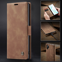CaseMe New Phone Case For Samsung Galaxy Note 10 Plus Retro Business Magnetic Flip Wallet Slot Leather Anti-fall Cover
