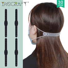 3pcs Face Mask Extension Strap Soft Silicone Mask Ear Protector Anti-Slip 5 Gears Face Mask Cord Mask Accessories