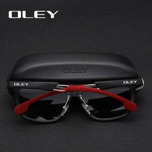 Image 3 - עולי אלומיניום מגנזיום גברים משקפי שמש מקוטב ציפוי מראה שמש משקפיים oculos זכר Eyewear אביזרי לגברים Y7144