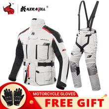 KERAKOLL Motorrad Jacke Männer Chaqueta Moto Wasserdicht Moto Racing Jacke Set Schutz Getriebe Motocross Off Road Racing Jacke