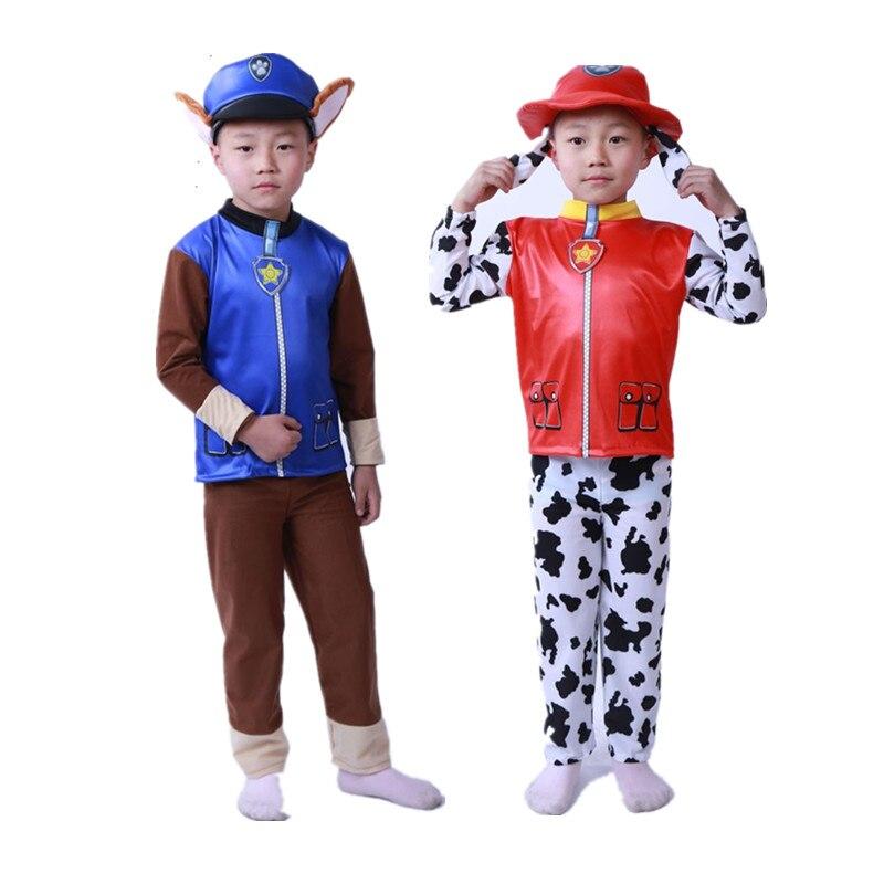 Детский день рождения карнавальные костюмы на Новый Год Вечерние костюм детей Маршалл и Чейз Скай костюм для мальчиков для косплея для дево...