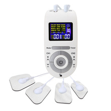 12 Modes Tens Machine Unit with 4 Electrode Pads for Pain Relief Pulse Massage EMS Muscle Stimulation Electroestimulador