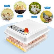 36 ovos incubadora automática máquina de incubação display digital controle umidade aves chocadeira termostato reprodução chapéu ovos galinha