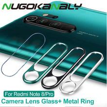 Tempered Glass + Metal Protection Ring For Xiaomi Redmi Note 8 7 Pro K20 Camera Lens Screen Protector For Mi 9 9T 8 SE A2 6X(China)