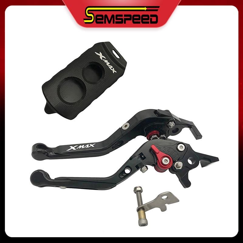 Levier de frein d'embrayage clé support du couvercle de boitier ensemble Semspeed CNC accessoires moto pour Yamaha xmax 300 xmax 250 xmax 125 2017-2020