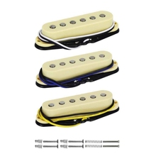 цена на 3Pcs/Set Alnico 5 Single Coil Pickup Electric Guitar Pickup Neck/Middle/Bridge 48/50/52Mm