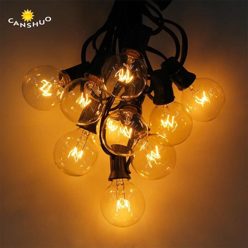 g40 patio lights globe bulb string lights 8m 25 clear ball edison bulb string for outdoor hanging umbrella patio lighting eu us