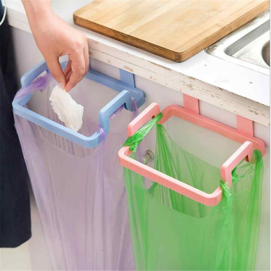 Sampah Tas Sampah Tas Pemegang Stand Rak Sampah Sampah Limbah Bracket Gantung Alat Dapur Ramah Lingkungan Dapat Digunakan Kembali
