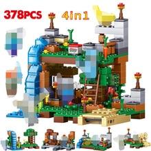 378 шт Водопад 4 в 1 строительные блоки Совместимые legoing город DIY Сад фигурки Кирпичи игрушки для детей подарок