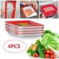 4 шт творческие Еда сохранение лоток волшебное эластичную пленку с пряжкой Вакуумная упаковка сохраняет Еда свежий Кухня инструменты