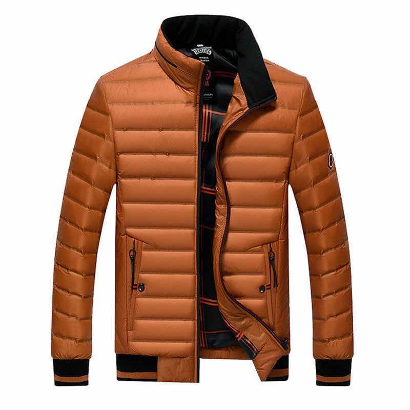 Ördek aşağı ceket Donsjas Heren Columbia erkek ceketler kış Ultralight taşınabilirlik sıcak Homme Parka ceket Jaqueta Masculino