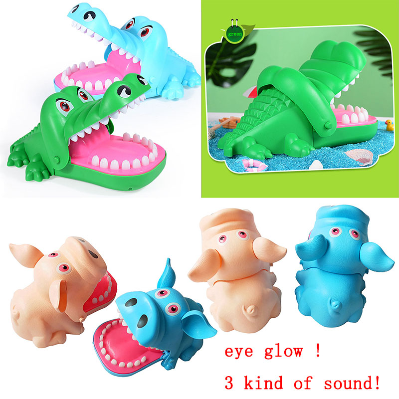 LANDZO Hot Biting Finger Toys Crocodile Mouth Teeth Bite Finger Toys Pig Bar Game Funny Gags Kids Children Adult Toy