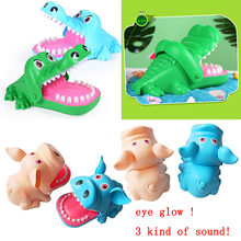 Landzo brinquedo de dedo para crianças, brinquedo de morder com crocodilo, boca com dentes, brinquedo para adultos
