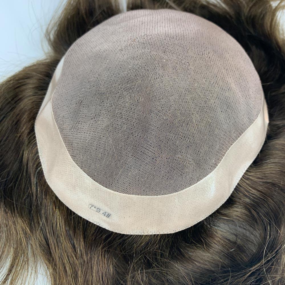 cabelo humano real unidade de substituição durável 130% densidade