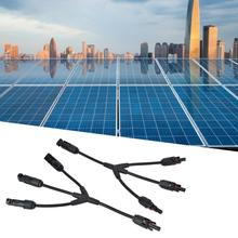 2Pcs MC4 Branch Y Type 4-Way Solar Panel Cable Connector IP67 Male and Female Photovoltaic Adapter