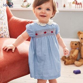 Little maven New Arrvial Girls Dress Apple Applique Girls Princess Party Dresses Toddlers Summer Dress Kids Clothing Dresses 1