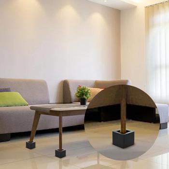 цена на 4pcs square chair leg caps Non-slip Table Foot dust Cover Socks Floor Protector pads pipe plugs furniture leveling feet