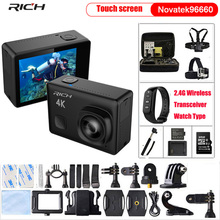 Экшн-камера Ultra HD 4k NT96660 Wifi 12MP 7 стекло A+ пульт дистанционного управления 170D объектив водонепроницаемая Спортивная камера