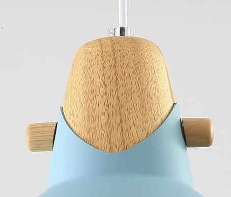 Океанский синий металлический деревянный абажур одна лампа люстра Корея Потолочный подвесной светильник блеск pendente