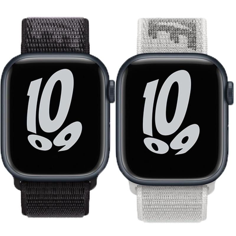 Nylon Loop Strap for apple watch band 45mm 41mm 44mm 40mm 38mm 42mm sport bracelet correa Watchband iWatch serie 3 5 6 se 7 band