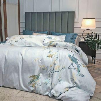 Комплект постельного белья Papa & Mima Silkly из египетского хлопка, двуспальное постельное белье, простыня, наволочка, пододеяльник