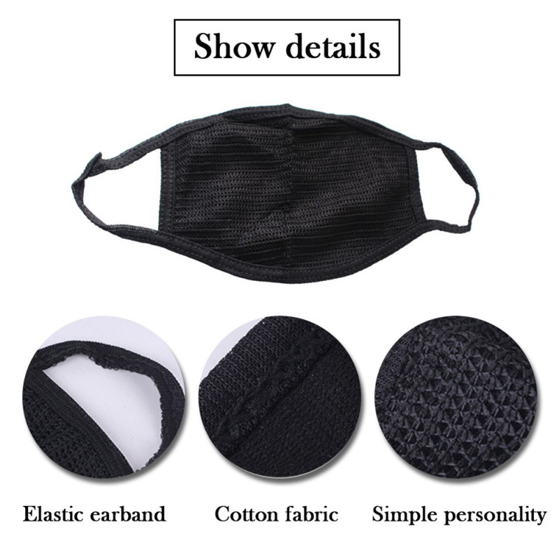 Cotton Black Mouth Mask Anti Dust Mask Activated Carbon Filter Windproof Mouth-muffle Bacteria Proof Flu Face Masks Care Hot 5