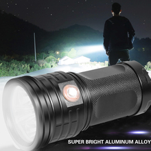 Предотвращение чрезвычайных ситуаций IPX5 Водонепроницаемый Супер Яркий длинный прожектор ночной USB Перезаряжаемый поддержка отключения питания Зарядка телефона