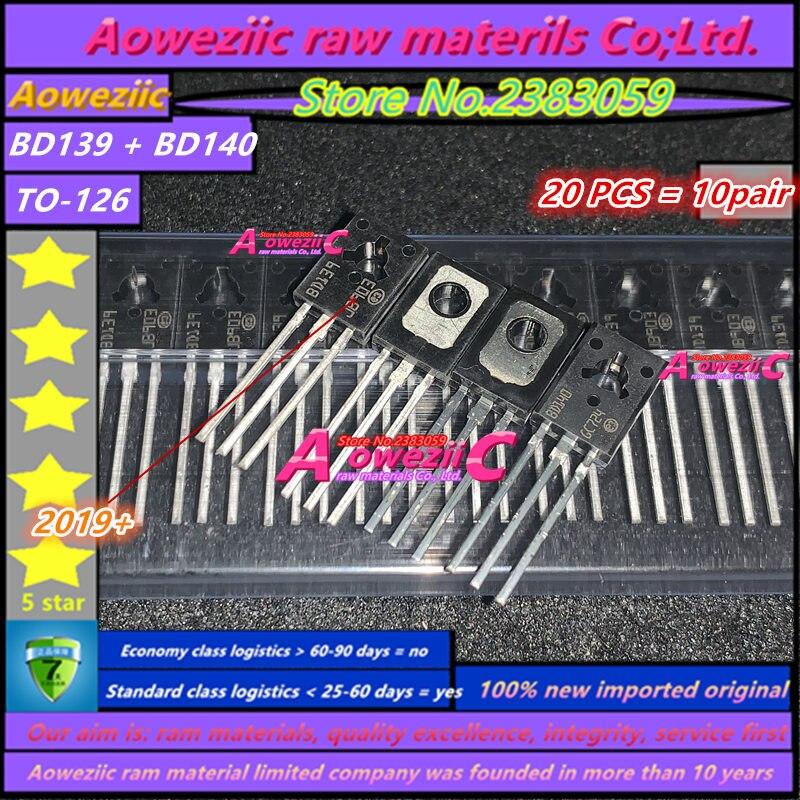 Aoweziic  2019+   20PCS = 10 Sets 100% New Imported Original  BD139 BD140 TO-126 Transistor (1 Sets)
