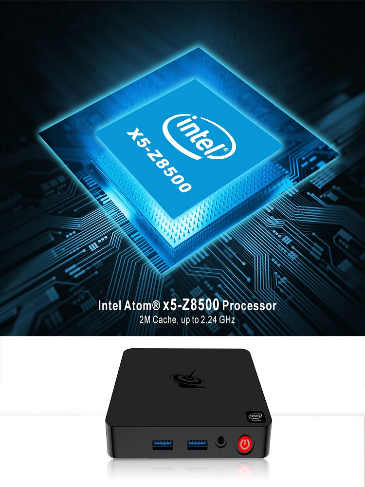 Image 5 - Beelink T4 Mini PC TV Box Intel Atom x5 Z8500 Windows 10 nowy pulpit PC 4GB + 64GB 2.4/5.8GHz WiFi BT4.0 HDMI + DP podwójny wyświetlaczMini PC   -