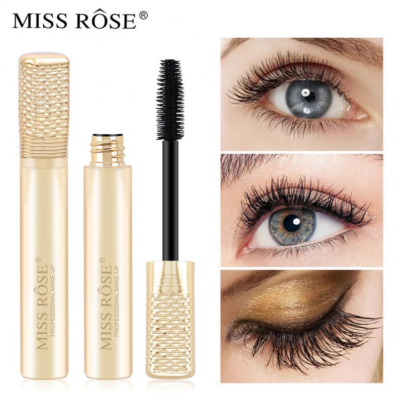 MISS ROSE 3D Fiber Mascara Waterproof Rimel Thick Curling Lengthening Smudge-proof Mascara professional Makeup Tool TSLM2