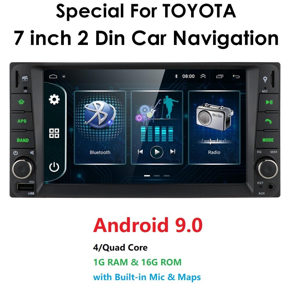 2 din android 9.0 Universal Car Multimedia Player Car Radio Player Stereo for toyata VIOS CROWN CAMRY HIACE PREVIA COROLLA RAV4(China)
