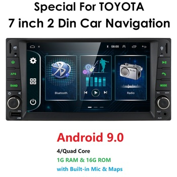 2 din android 9.0 Universal Car Multimedia Player Car Radio Player Stereo for toyata VIOS CROWN CAMRY HIACE PREVIA COROLLA RAV4 image