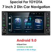 2 din android 9.0 Universal Car Multimedia Player Car Radio Player Stereo for toyata VIOS CROWN CAMRY HIACE PREVIA COROLLA RAV4