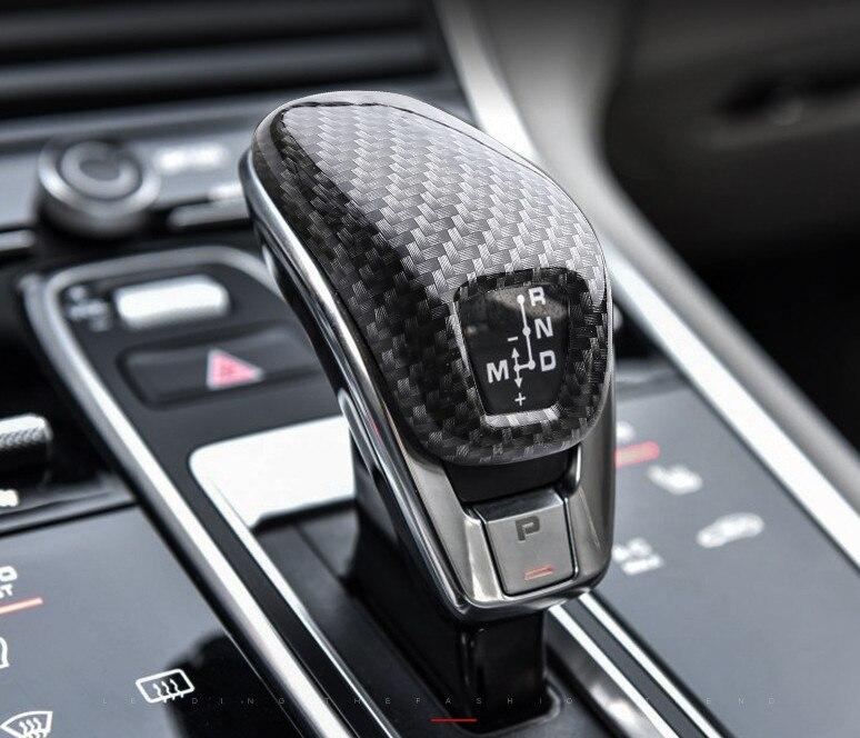 For new Porsche Panamera 971 2017-2019 Auto Car Accessories Gear Head Shift Knob Cover Gear Shift Collars Handbrake Grip 1pcs
